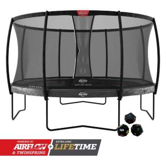 Батут Berg Elite Regular 430 Grey Levels + Safety Net Deluxe
