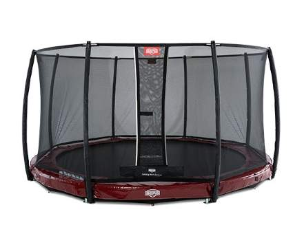 Батут Berg InGround Elite Red 380 + Safety Net Deluxe