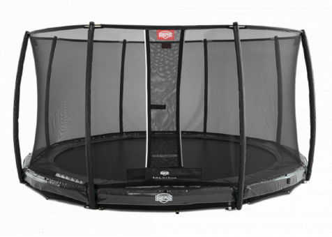 Батут Berg InGround Elite Grey 430 + Safety Net Deluxe