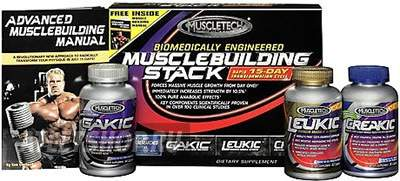 Muscletech Muscle Building Stack комплект:Gakic,Leukic,Creakic